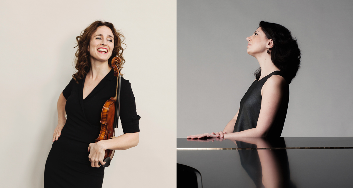 Nino Gvetadze, piano en Frederieke Saeijs, viool